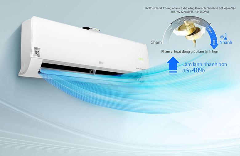 Chế độ làm lạnh nhanh Jet mode - Điều hòa LG 2 chiều Inverter 12000BTU B13APF